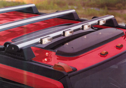 DeltaTech Hummer H2 & SUT H.I.D 4X H-RACK Low Profile Roof Top Light Bar