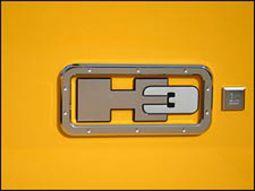 logo h3 chromé