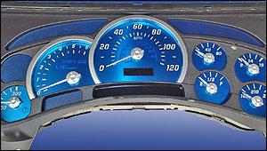 US Speedo SS Series Aqua Gauge Kit for 03 to 05 Hummer H2 & SUT
