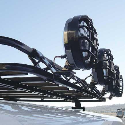 Hummer H2 H3 Front Off Road Light Mount For Garvin Wilderness Sport Series Roof  Rack (
