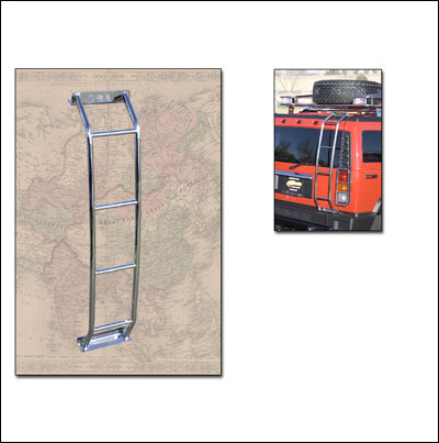 GOBI H2 Stainless Steel polished Driver side rear door ladder. & GOBI H2 Stainless Steel polished Driver side rear door ladder ...