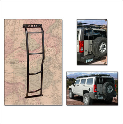 Gobi H3 Driver Side Rear Door Ladder Mounts Next To Spare Tire Hummer Parts Club