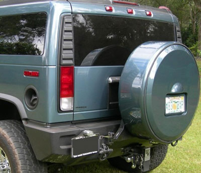 rm lockable painted h2 spare tire cover with license plate. Black Bedroom Furniture Sets. Home Design Ideas