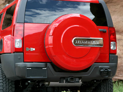 HUMMER H3 Xtreme Tire Cover With Chrome HUMMER Nameplate (Official