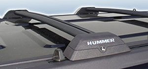 Steel C Hummer H3 Roof Rack Cross Bars Black Or Silver (OE Style)