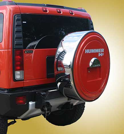 HUMMER H2 Logo MasterSeries Tire Cover With License Plate Provision