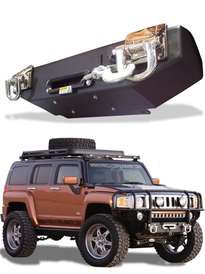 Predator Hummer H3 H3t Hidden Winch System Hummer Parts Club