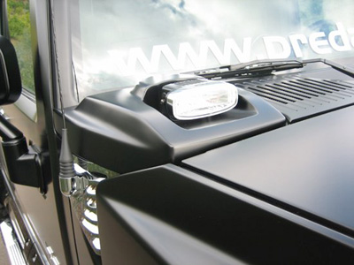 Hummer H2 Corner Light Cowl Set w/PIAA Lights (textured black ...