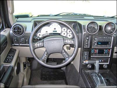 Predator Motorsports Hummer H2 28 Piece Dash Kit In Carbon Fiber Burlwood Or Rosewood Hummer