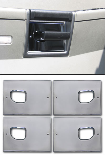 Pro one h2 smooth chrome billet interior door handle backing plate pro one h2 smooth chrome billet interior door handle backing plate set planetlyrics Choice Image